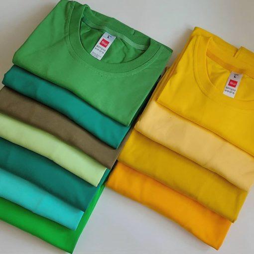 تنوع رنگی تیشرت های تولید شده در ایران پوشاک