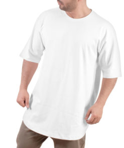 تیشرت اورسایز مردانه سفید