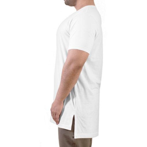 تیشرت لانگ سفید مردانه