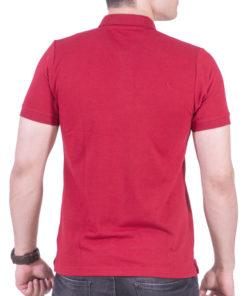 تیشرت دکمه دار قرمز