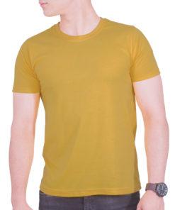 تیشرت زرد خردلی