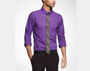 لباس مردانه به رنگ ارغوانی