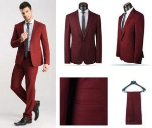لباس مردانه رنگ زرشکی
