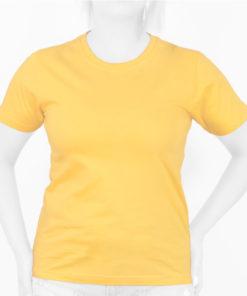 تیشرت زنانه زرد روشن