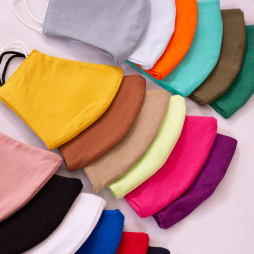 ماسک پارچه ای رنگی