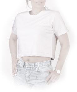 کراپ تیشرت سفید